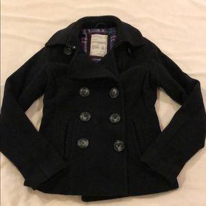Aeropostale black wool coat